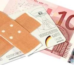 Bargeld als Symbol für Krankenkasse