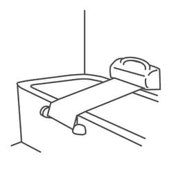 Badewanne mit Tuchlift